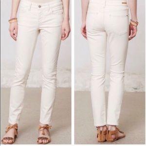 Anthropologie Pilcro White Skinny Corduroy Pants